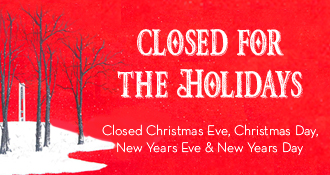 Closed for the Holidays – 12/24
