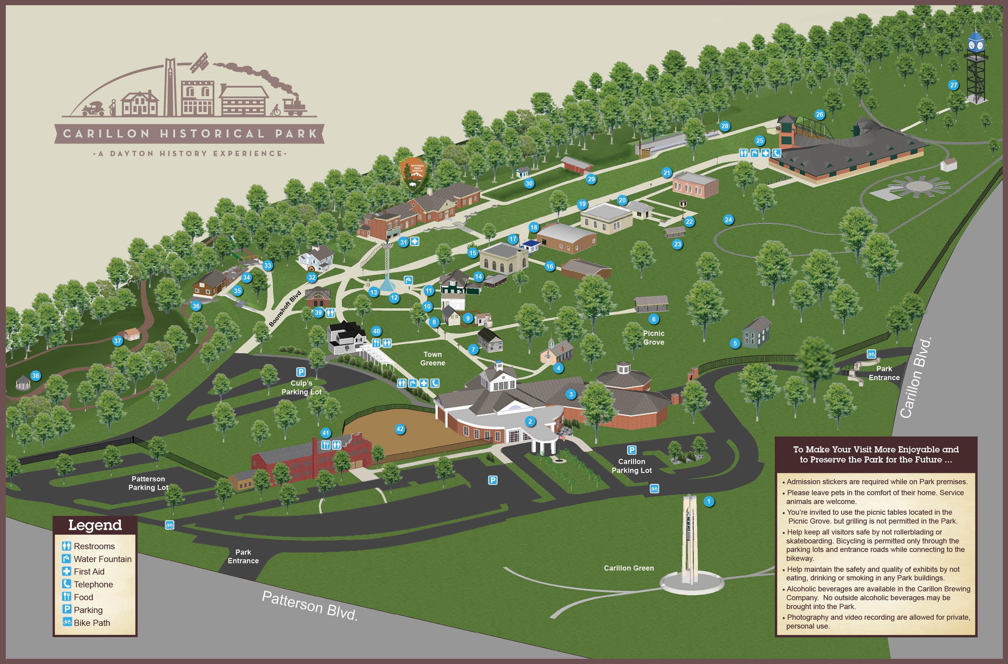 Park Map Dayton History